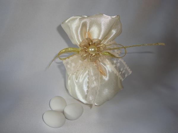 Confetti Sulmona in Fiera - Sacchetto in Raso con Perla