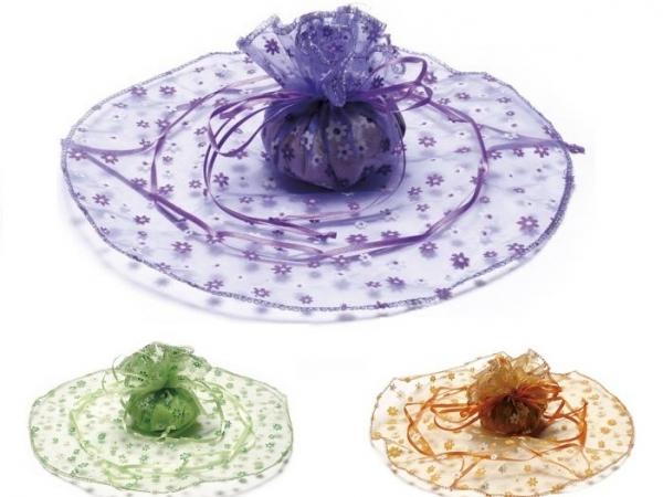 Confetti Sulmona in Fiera - Sacchetto con fiorellini